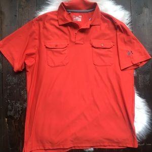 UNDER ARMOUR Heat Gear Short-Sleeve Polo Shirt L